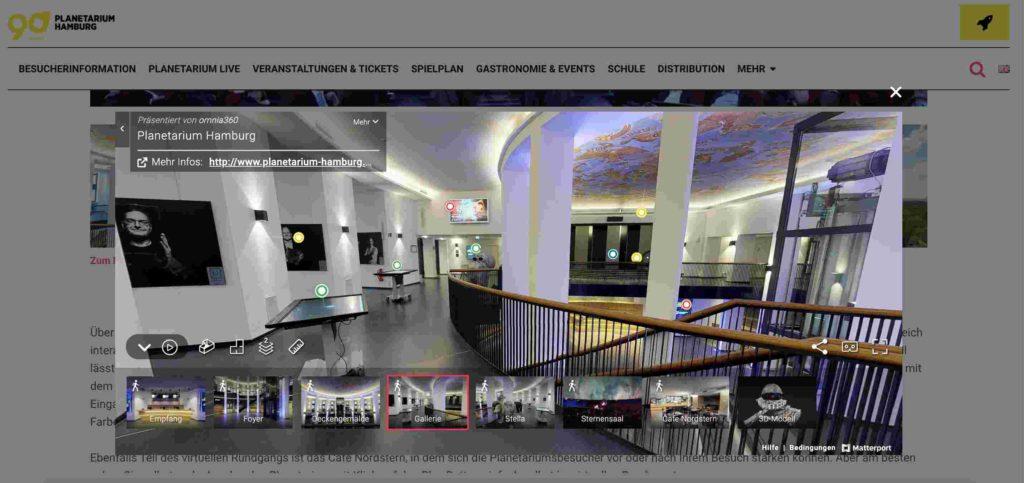 Planetarium Hamburg Interaktionselement - Conversion-Rate-Optimierung