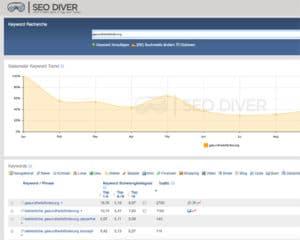 SEO Diver - Tool zur Keyword-Recherche