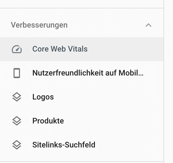 Search Console Core Web Vitals & Page Experience